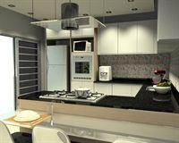 cozinha cozinha com ilha cozinha em u - Galeria de Projetos Promob