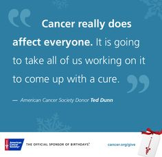 Join the fight against cancer by donating to the American Cancer Society. Pinche Cancer