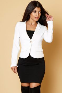 Pure White Blazer Pure White, Wedding Attire, Clothing Items, White Coats, That Look, White Blazers, Ootd, Pure Products, Jackets