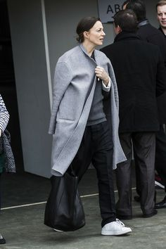 Phoebe Philo exits Tennis Club de Paris after the Winter 2014 show