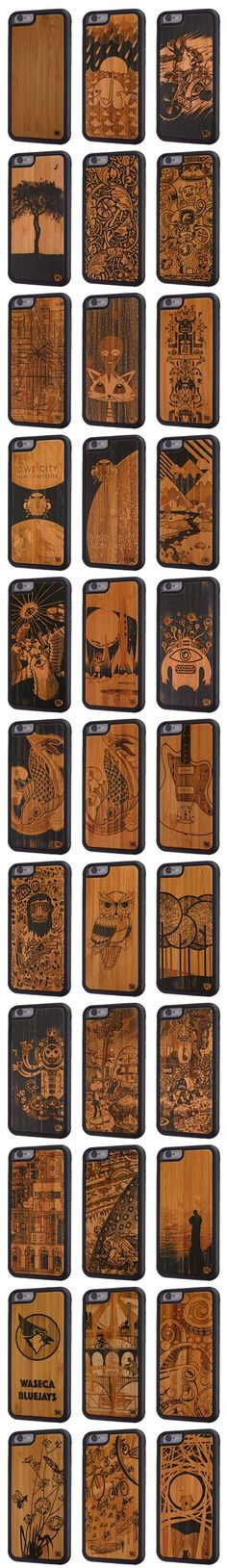 Twig Case Co. iPhone 6/6s & 6/6s Plus cases use our exclusive, laser-engraved layered Paper & Bamboo and bond it to new Space Age frame, making Twig Cases stronger, less prone to bending and more stylish than any wood case out there!