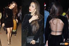 Stunning Malaika Arora Khan was recently seen in this black velvet Saint Laurent dress. Your outfit idea for the New Year's eve? :D