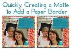 Create a Matte for a Paper Border