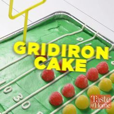 Gridiron Cake Recipe