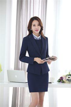 image Blazers, Office Ladies, Skirt Suit, Pencil Dress, Girls Wear, Secretary, Formal, Vest, Suits