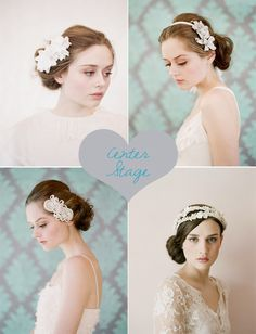Pretty wedding hair accessories by Twigs & Honey #weddings #weddinghair