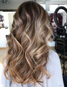 Caramel Blonde Balayage For Brown Hair