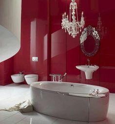 8 Best Dark Red Bathroom Images On Pinterest
