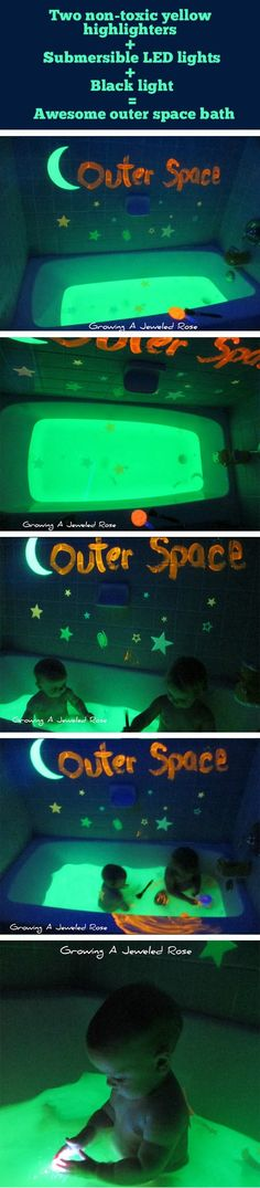 Outer space bath time!