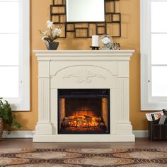 Harper Blvd Stewart Ivory Infrared Electric Fireplace
