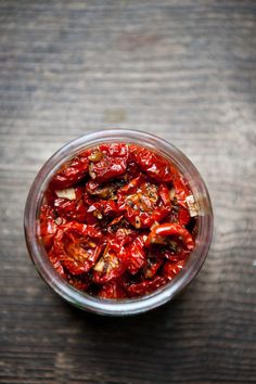 oven-dried cherry tomatoes. what a great idea to use up the hundreds and hundreds from my garden i seem not to be able to eat each summer!