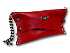 Handmade leather clutch (red) Leather Clutch, Leather Bags, Classy Outfits, Sunglasses Case, Purses, Handmade Leather, Clutches, Red, Shopping