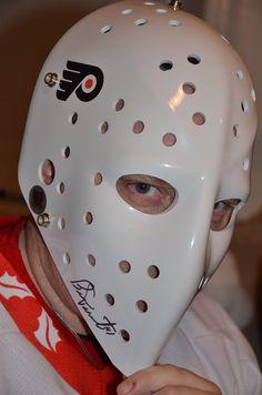 Bernie Parent  Flyers                                      Philadelphia Flyers 1974-1975 Flyers Hockey, Hockey Goalie, Ice Hockey, Bernie Parent, Martin Brodeur, Philadelphia Sports, Goalie Mask, Nhl Jerseys, Cerberus