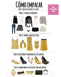 Cómo empacar en 5 pasos. #Outfit #howToPack #Dress