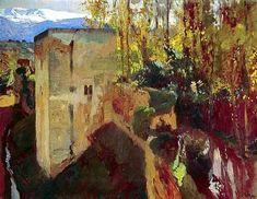 Lecture d'un message - mail Orange Landscape Artwork, Contemporary Landscape, Santa Barbara California, Spanish Painters, Central Coast, Figure Painting, Madrid, Fine Art, Oil Paintings