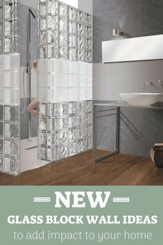 History certainly repeats itself so it is not surprise that glass block wall are coming back around! Check out the neath glass block wall ideas you can add to your home! Glass Bathroom, Small Bathroom, Master Bathroom, Bathroom Showers, Glass Blocks Wall, Block Wall, Glass Walls, Interior Exterior, Bathroom Interior Design