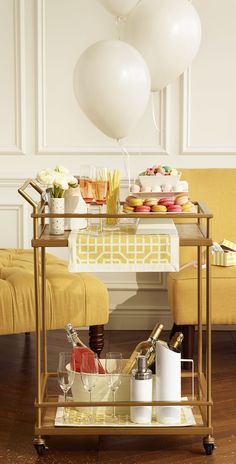 Don't let the name fool you into thinking the bar cart only has one purpose. We're sharing four ways to dress your cart up so you can entertain in style.'