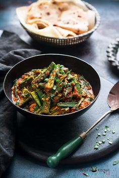 Achari Dahi Bhindi is a very famous Punjabi dish made with Indian spices. Achari Dahi Bhindi is simple and easy to make. Achari Dahi Bhindi is delicious. Veg Recipes, Curry Recipes, Indian Food Recipes, Vegetarian Recipes, Cooking Recipes, Healthy Recipes, Recipies, Indian Snacks, Punjabi Food