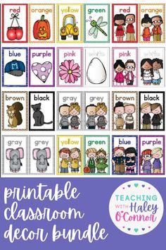 This classroom decor bundle is the perfect way to brighten up your classroom! It includes printable Classroom Decor posters, the Alphabet, Numbers, Colors, Calendar pieces, Classroom Jobs. A great way to brighten up the classroom of a new teacher or a teacher coming back into the classroom after a year of remote learning!