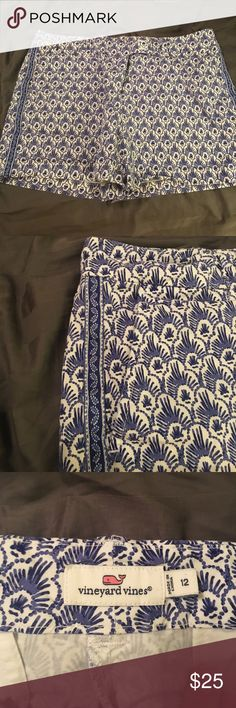 Vineyard Vines Blue and White Shorts - Size 12 Vineyard Vines Blue and White Shorts - Size 12. No flaws or stains. Excellent used condition! Comment with any questions. I ship quickly! Vineyard Vines Shorts