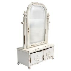 One-drawer vanity mirror.  Product: Vanity mirrorConstruction Material: Wood and mirrored glassColor...