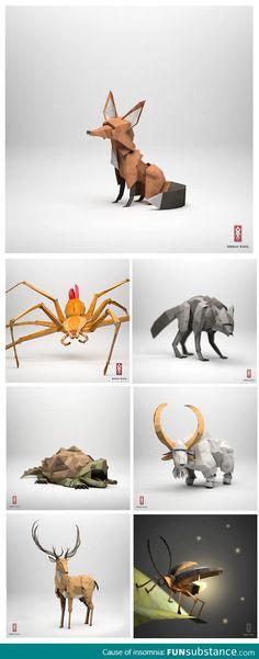 Super realistic origami art
