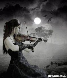 Photo of violin for fans of Gothic 31080940 Girl Playing Violin, Gothic Images, Gothic Fantasy Art, Beautiful Dark Art, Sad Pictures, Goth Art, Dark Gothic, Relaxing Music, Sasuke Uchiha