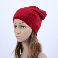 67e768d399d Geebro Brand 2017 Women s Hat Skullies Beanies Polyester Knitted Hats  Beanie Hat Spring Casual Velvet Women