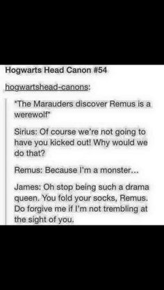 The Marauders Find Out Remus is a Werewolf