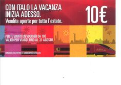 """Da oggi e fino al 31 agosto 2014 per tutti coloro che soggiorneranno presso l' Hotel Grand'Italia """"Residenza d'Epoca"""" riceveranno uno buono sconto valido per una persona di euro 10,00 per tutti i treni ITALO TRENO !! la promozione è fino ad esaurimento scorte."""