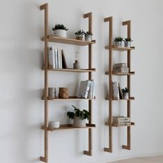 Regal Braun ladder rack, wall shelf - Decoration For Home Wooden Shelves, Wall Shelves, Floating Shelves, Wood Shelf, Wall Racks, Scandinavian Bookshelves, Scandinavian Style, Bookshelves In Living Room, Diy Furniture