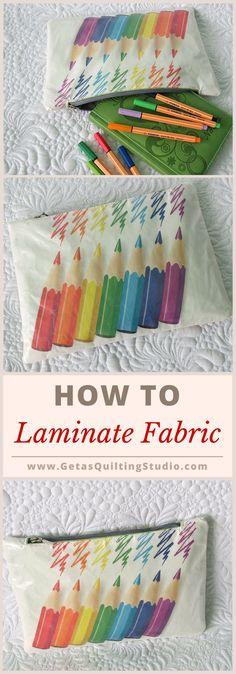 Laminating fabric for zipper pouches. via @getagrama