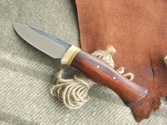 Hand Forged Bushcraft Knife in Desert Ironwood and 52100!!!