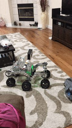 """A """"mars"""" rover powered by a Raspberry Pi. Meet Ratchet driving 5 RoboClaws (10 channels) and taking instructions via voice."""