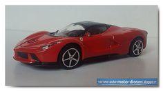 LaFerrari 2013   Bburago   Scala: 1/43 Codice: #18-36000          LaFerrari monta un motore V12 da 6.2 litri, 800 cavalli a 9.000 giri/min....