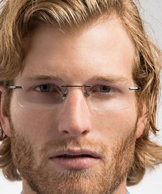 Rimless eyeglasses frames are available in many different shapes and finishes. Rimless glasses are a great, minimal look that he will love.