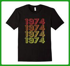 Mens Retro 1974 T-Shirt Vintage 43 yrs old Bday 43rd Birthday Tee XL Black - Birthday shirts (*Amazon Partner-Link)
