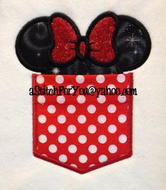 POCKETS w-Ms Mouse Ears - Applique wOrKiNg - 7 Sizes ITH-InFANT, Child & Adult Sz - INSTANT Download Machine Embroidery Design by Carrie