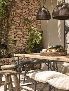 A lovely terrace at Le Granja Ibiza.