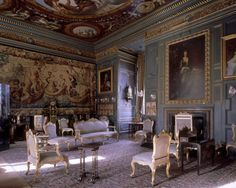 Blue Drawing Room at Powis Castle