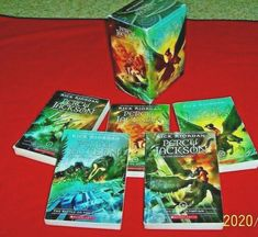 5 Percy Jackson & the Olympians 4th 5th 6th Grade Books Rick Riordan Boxed Set