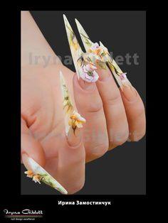 Nail art: Nails from our educator Iryna Zamostinchuk