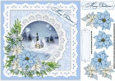 8x8 ice blue Christmas  on Craftsuprint - Add To Basket!