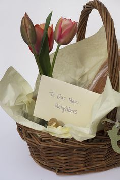 Show some Southern Hospitality with a quick welcome basket idea for new neighbors.