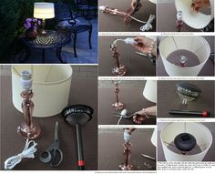 Light Up Your Night With an Easy DIY Outdoor Table Lamp using an outdoor solar powered light!? Why didn't I think of this!