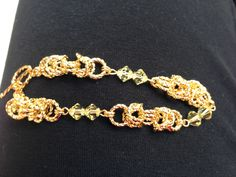 Another view of the gold Byzantine bracelet!