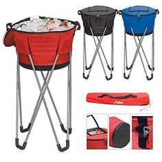 Superdeals Store Collapsible Barrel Cooler with Stand Red * You can get additional details at the image link.
