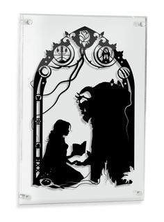Beauty And The Beast Hand Cut Paper Shadow Belle Disney Inspired Love Artwork Silhouette Framed Wall Decor Unique Gift