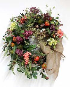 Luxury Front Door Wreath,Pears & Pomegranates!