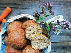 Antipastaa: Porkkanasämpylät (gluteeniton, viljaton, maidoton, sokeriton, hiivaton)